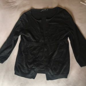 "VGUC black 3/4"" length cardigan"